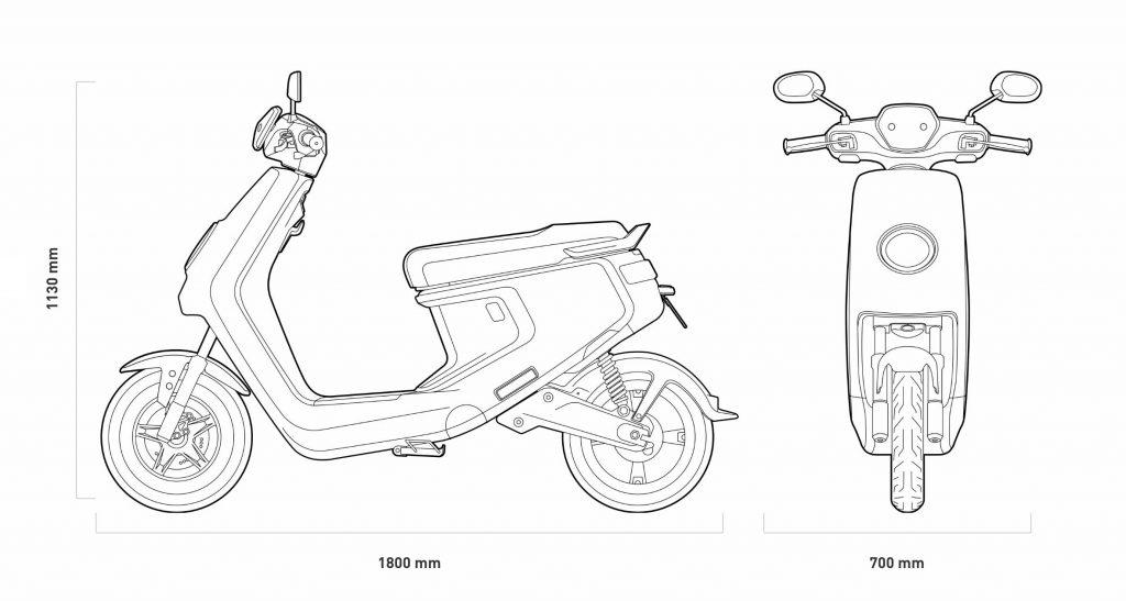 wymiary niu mqi lite sport pro skutery elektryczne