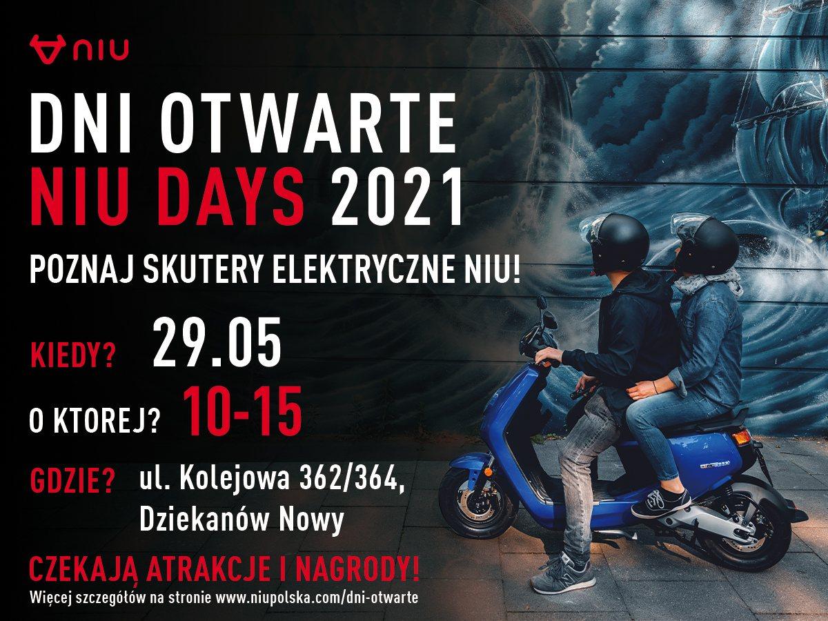 dni otwarte niu days 2021 skutery elektryczne skuter elektryczny niu polska